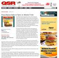<h5>QSR Magazine</h5><p>Trade Media Hit</p>