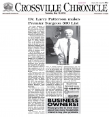 <h5>Crossville Chronicle</h5><p>Local Media Hit</p>